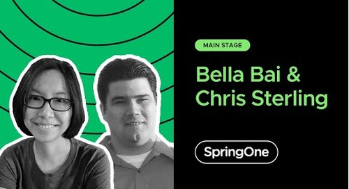 Bella Bai and Chris Sterling at SpringOne 2020