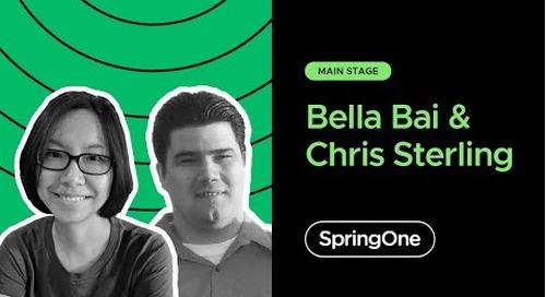 Bella Bai and Chris Sterling at SpringOne 2020