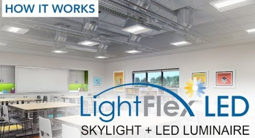 Sunoptics® LightFlex™ LED tubular daylighting system – How it Works