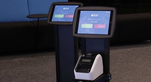 ClearID visitor self check-in with paper badge