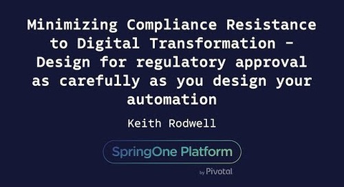 Design for Regulatory Approval as Carefully as You Design Your Automation - Keith Rodwell
