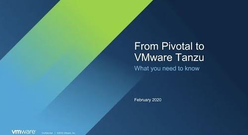 Pivotal에서 VMware Tanzu로   인수와 앞으로의 로드맵에 대한 이야기