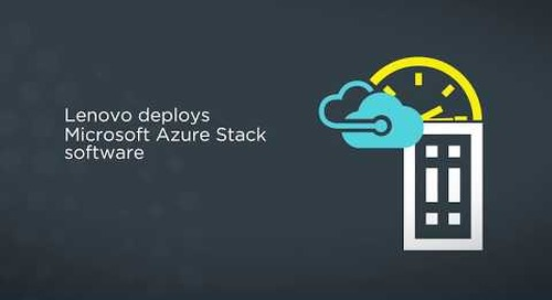 Lenovo ThinkAgile SX Solution for Microsoft Azure Stack