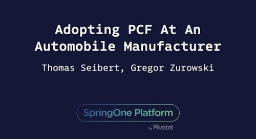 Adopting PCF At An Automobile Manufacturer - Gregor Zurowski, Thomas Seibert (Mercedes-Benz.io GmbH)