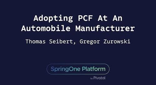 Adopting [VMware Tanzu Application Service] At An Automobile Manufacturer - Gregor Zurowski, Thomas Seibert (Mercedes-Benz.io GmbH)