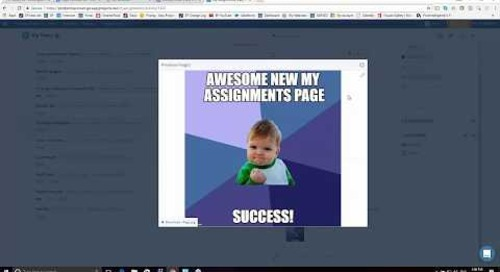 New My Assignments Page Webinar