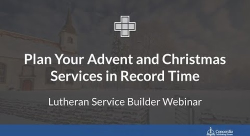 Plan Your Advent and Christmas Services in Record Time