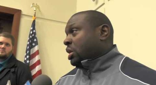 Notre Dame's Tony Alford Talks To The Media
