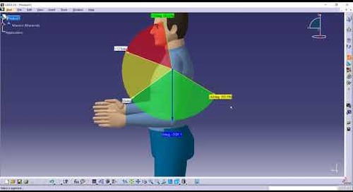 Preferred angles for human manikins in CATIA V5