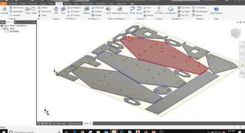 Inventor 2019 Nesting and HSM