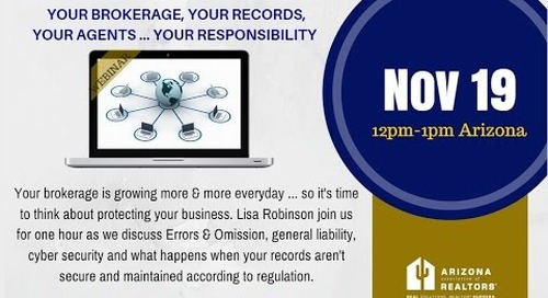 E&O, Record Keeping & Cyber Security 11.19.2015