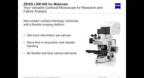 ZEISS Webinar: Confocal Microscopy in Materials Science