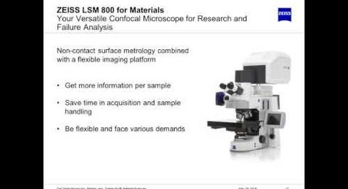 ZEISS Webinar: Confocal Microscopy in Materials Science
