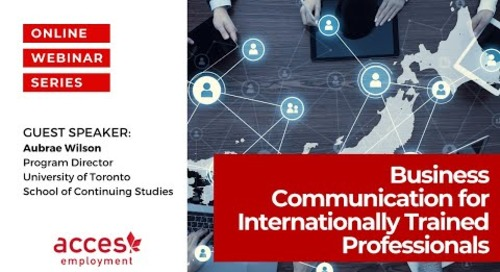 Business Communication Skills for Internationally Trained Professionals