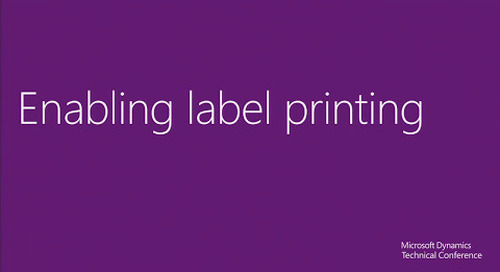 Labels in the new Microsoft Dynamics AX 2012 R3 warehouse management