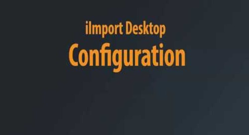iImport Desktop - Initial Configuration