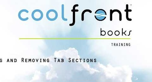 Coolfront Books - Adding and Removing Tab Sections