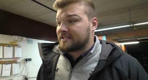 Hunter Bivin On Notre Dame Football Winning A Local Food Pantry 2668 lbs of Iowa Pork