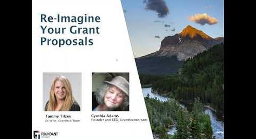 Re imagine Your Grant Proposals