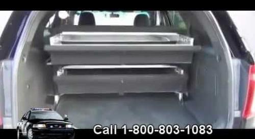 Secure Gun Locker for Car | Police Vehicle Weapon Safe | Trunk Vault Storage Drawer For Guns