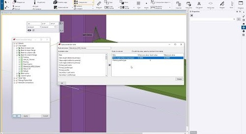 AutoConnections and AutoDefaults in Tekla Structures