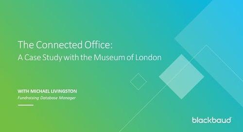 Museum of London - Raiser's Edge NXT and Konektis