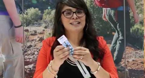 Stacy Larios introduces YKK's PRIFA® zipper tape at the Outdoor Retailer show