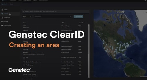 How to create an area in ClearID