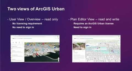 Smart City Planning with ArcGIS Urban