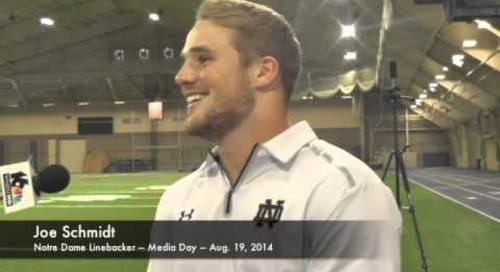 Notre Dame LB Joe Schmidt - Media Day 2014