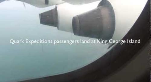 Quark Expeditions passengers landing in Antarctica