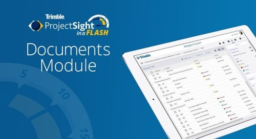 ProjectSight in a Flash - Documents