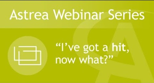 "Astrea Bioseparations Webinar#2 - ""I've got a hit, now what?"""