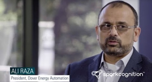 How does cognitive software address safety concerns in the oil and gas industry?