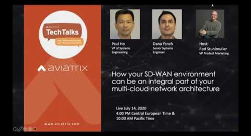 TechTalk | Your SD-WAN environment can be an integral part of your mutli-cloud network architecture