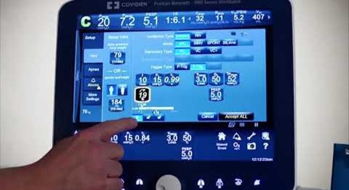 Puritan Bennett 980 Ventilator - Clinical - Pressure Control