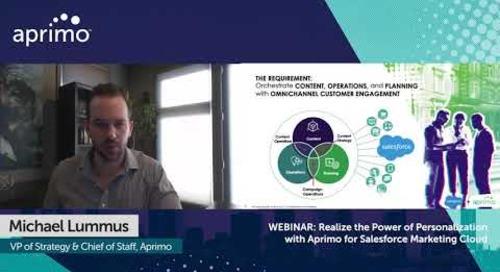 Aprimo + Salesforce: Orchestrate Cross-channel Customer Experiences