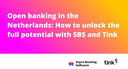 Open banking in the Netherlands: How to unlock the full potential with SBS and Tink
