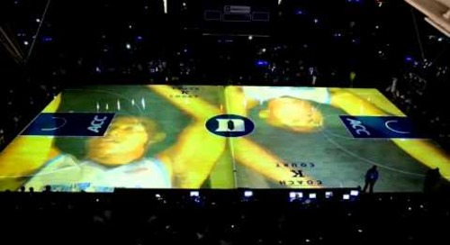 2013 Countdown to Craziness Court Video showing Christie Digital Projectors