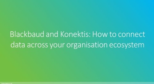 Blackbaud and Konektis: How to connect data across your organisation ecosystem