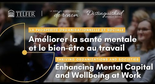 Enhancing Mental Capital and Wellbeing at Work