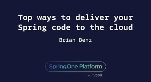 Top Ways to Deliver Your Spring Code to the Cloud - Brian Benz, Microsoft