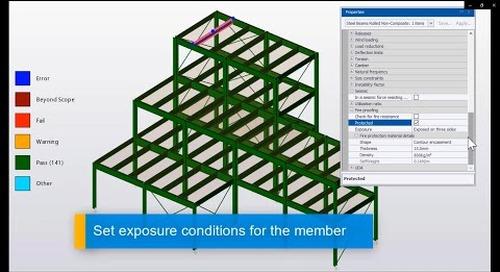 Fireproofing in Tekla Structural Designer