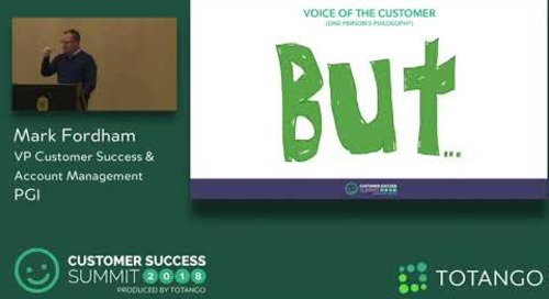 Leveraging Front-Line Customer Feedback - Customer Success Summit 2018 (Track 1)
