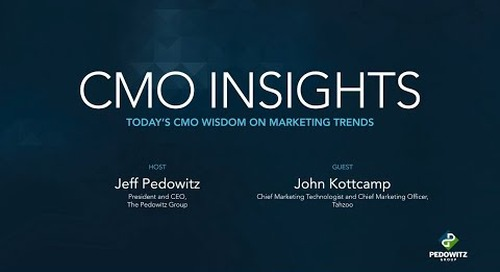 CMO Insights: John Kottcamp, Chief Marketing Technologist for Tahzoo