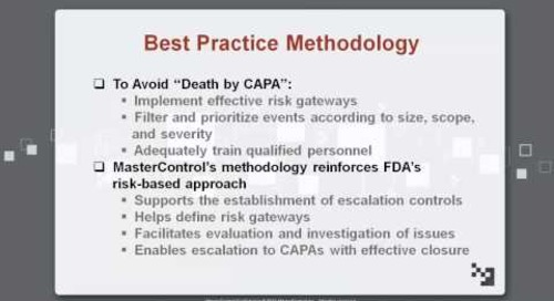 Avoid Death by CAPA with Software