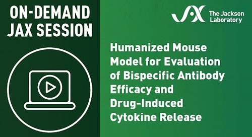 Humanized Mouse Model for Evaluation of Bispecific Antibody Efficacy & Drug-Induced Cytokine Release