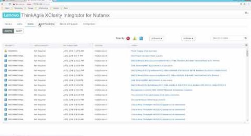 Lenovo ThinkAgile XClarity Integrator for Nutanix