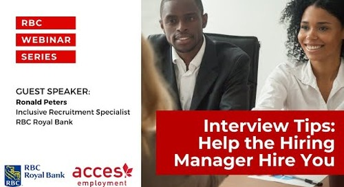 RBC Royal Bank webinar | Interview Tips  Help The Hiring Manager Hire You
