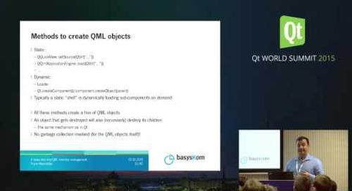 QtWS15- A deep dive into QML memory management internals, Frank Meerkötter, basysKom GmbH